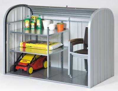 Gartenbox / Auflagenbox Biohort Storemax 190 silber-metallic Bild 3