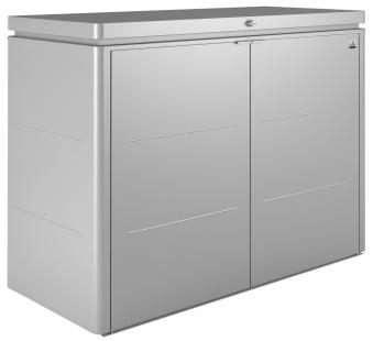 Gartenschrank Biohort HighBoard 160 silber-metallic 160x70x118cm Bild 1