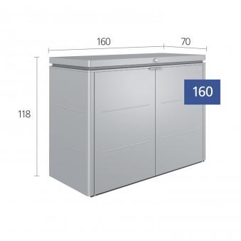 Gartenschrank Biohort HighBoard 160 silber-metallic 160x70x118cm Bild 2