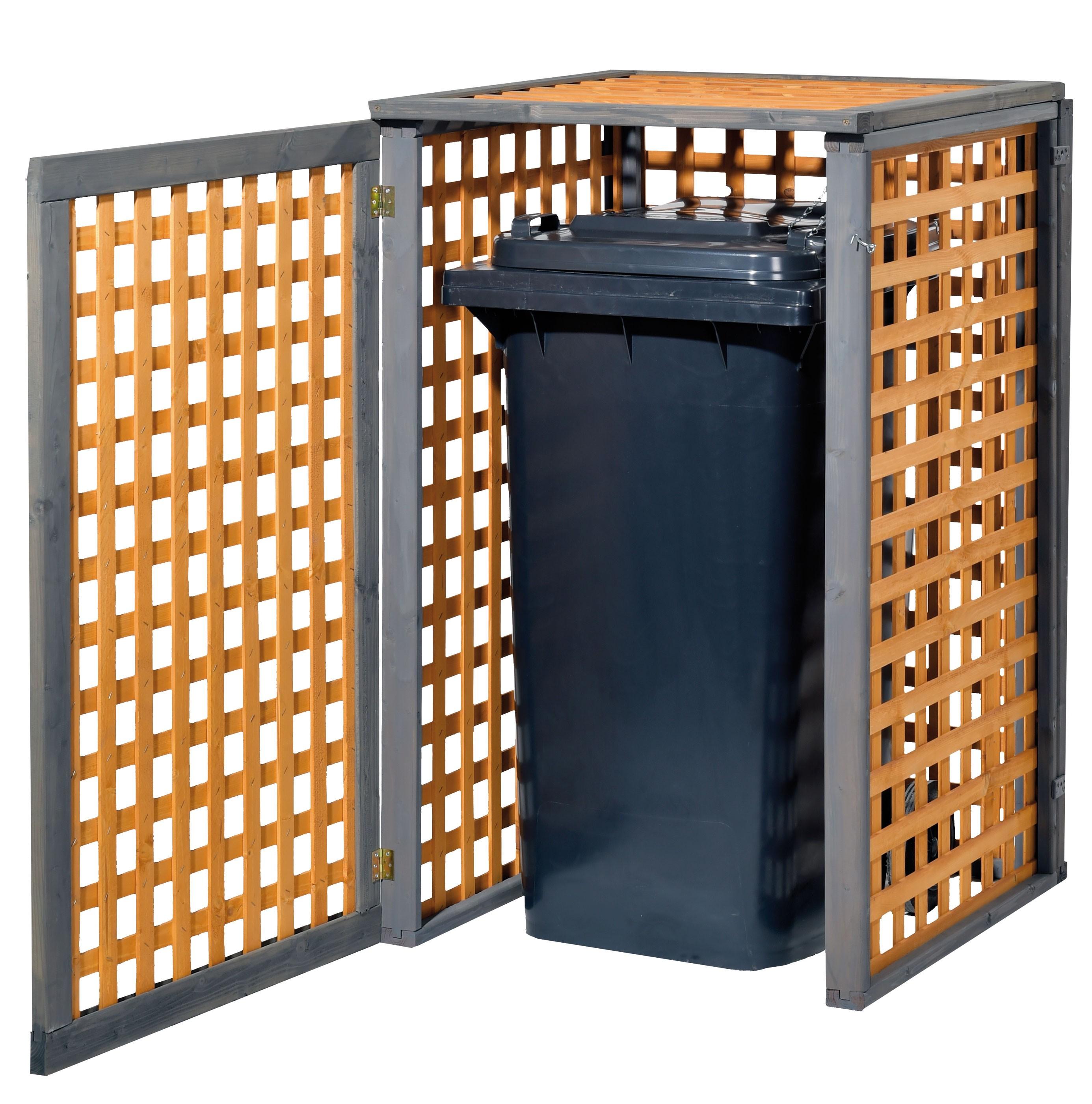 Holz Mülltonnenbox Kaprun für 1x 240Liter Mülltonne Bild 1