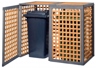 Holz Mülltonnenbox Kaprun für 2x Mülltonnen 240Liter erweiterbar Bild 1