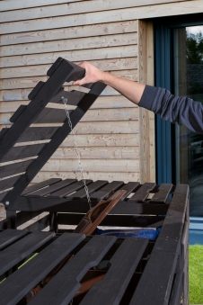 Holz Mülltonnenbox Weka anthrazit für 3 Mülltonnen Bild 2