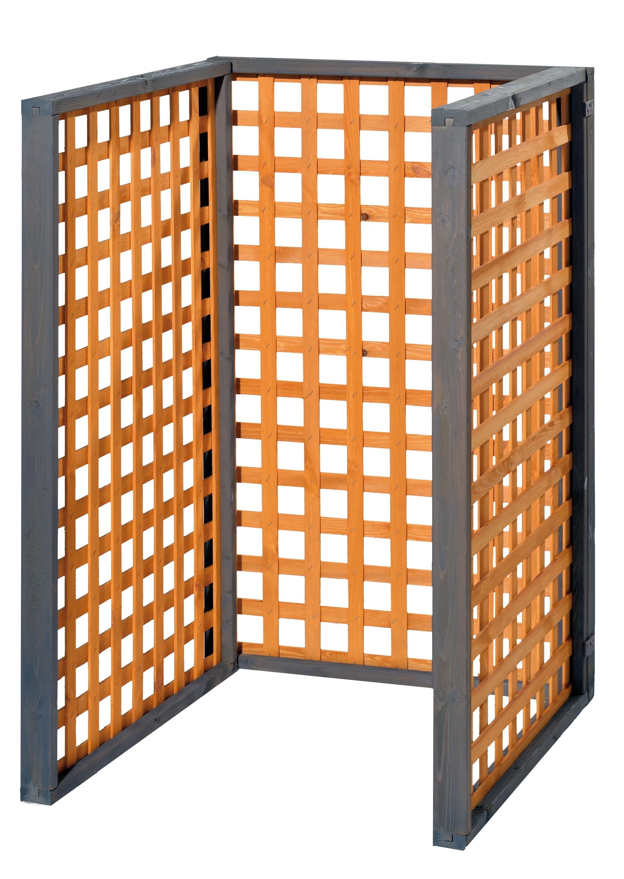 Holz Mülltonnenbox Zell für 1x 240Liter Mülltonnen Bild 1