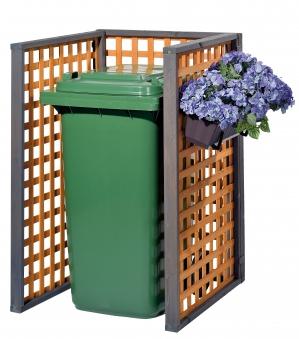 Holz Mülltonnenbox Zell für 1x 240Liter Mülltonnen Bild 2