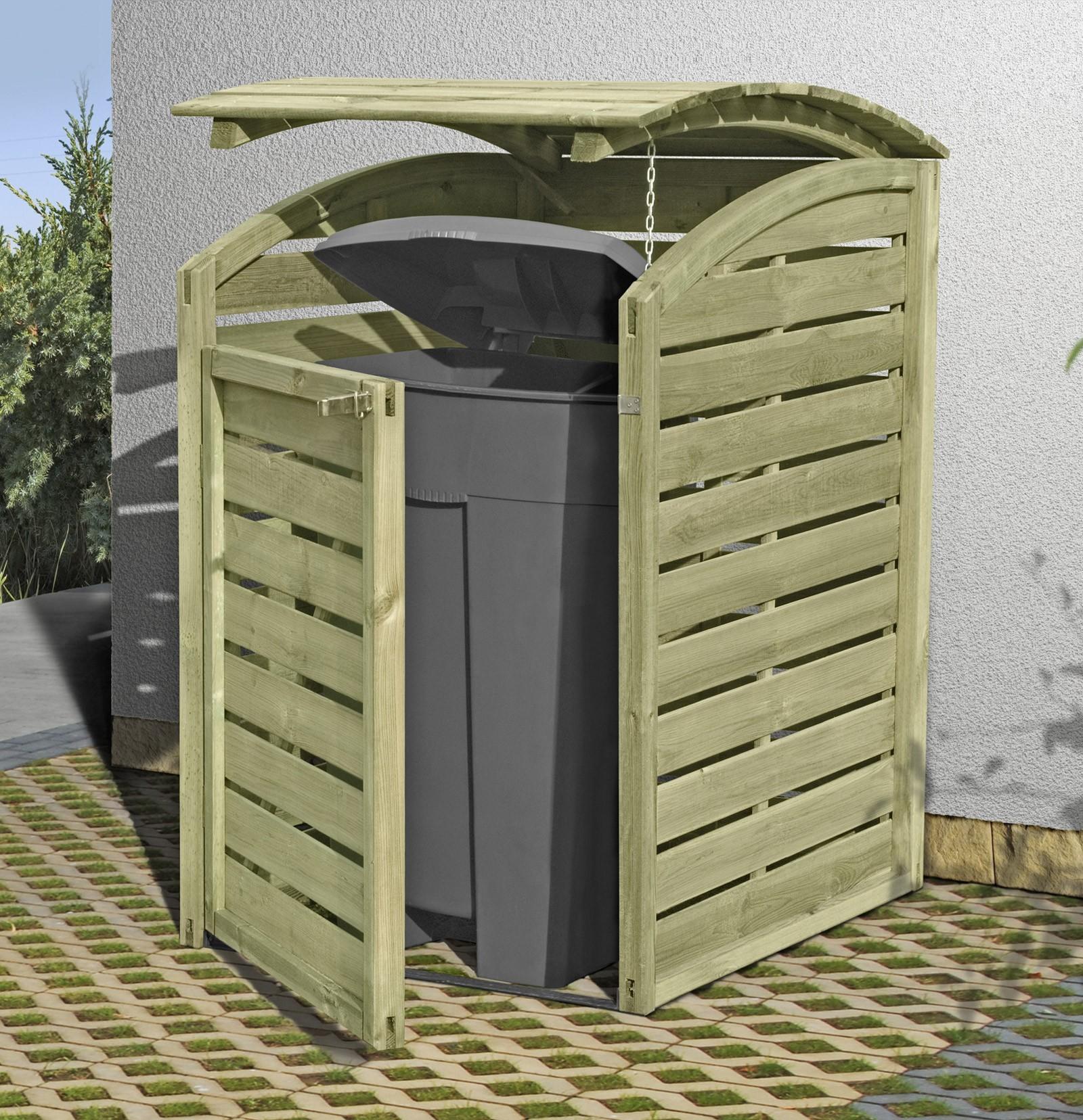 Holz Mülltonnenbox für 1 x 240 Liter Mülltonne kdi Bild 1