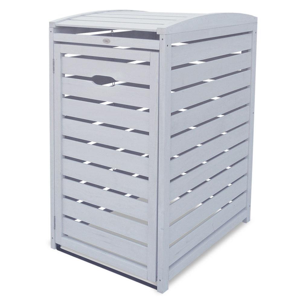 Mülltonnenbox Habau 1x240L Holz grau 70x85x129cm Bild 1