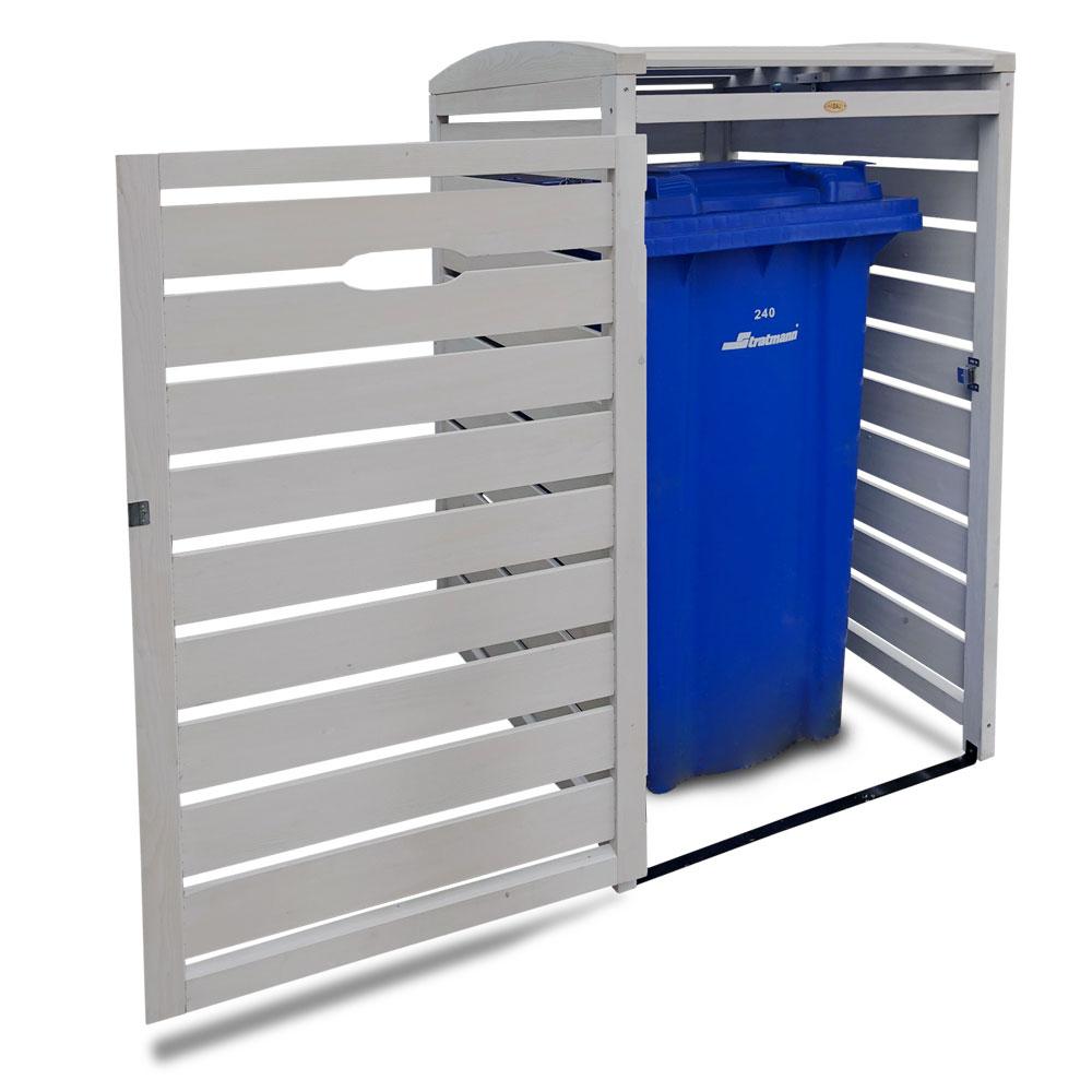 Mülltonnenbox Habau 1x240L Holz grau 70x85x129cm Bild 5