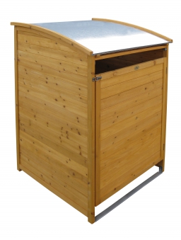 Mülltonnenbox Habau 240 Liter Holz 81x92x124cm Bild 1