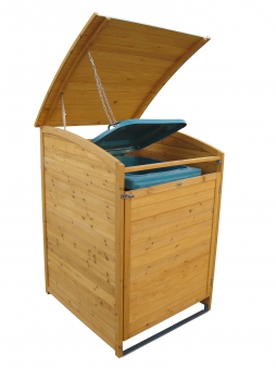 Mülltonnenbox Habau 240 Liter Holz 81x92x124cm Bild 2