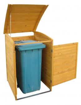 Mülltonnenbox Habau 240 Liter Holz 81x92x124cm Bild 3