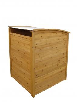 Mülltonnenbox Habau 240 Liter Holz 81x92x124cm Bild 4