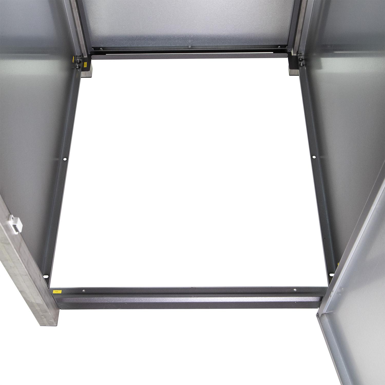 Mülltonnenbox für 1 Mülltonne mit Klappdeckel grau / Edelstahl Bild 6