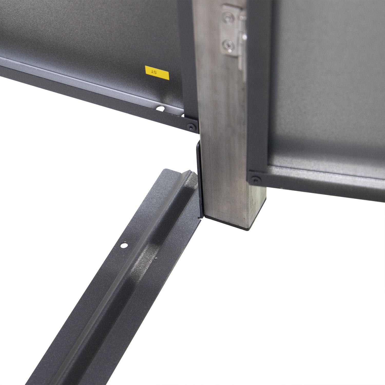 Mülltonnenbox für 2 Mülltonnen mit Pflanzwanne grau DB703/RAL9006 Bild 5