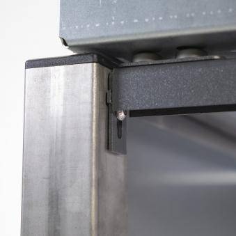 Mülltonnenbox für 3 Mülltonnen mit Klappdeckel grau / Edelstahl Bild 3
