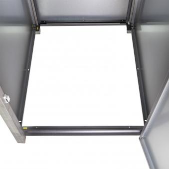 Mülltonnenbox für 3 Mülltonnen mit Klappdeckel grau / Edelstahl Bild 6