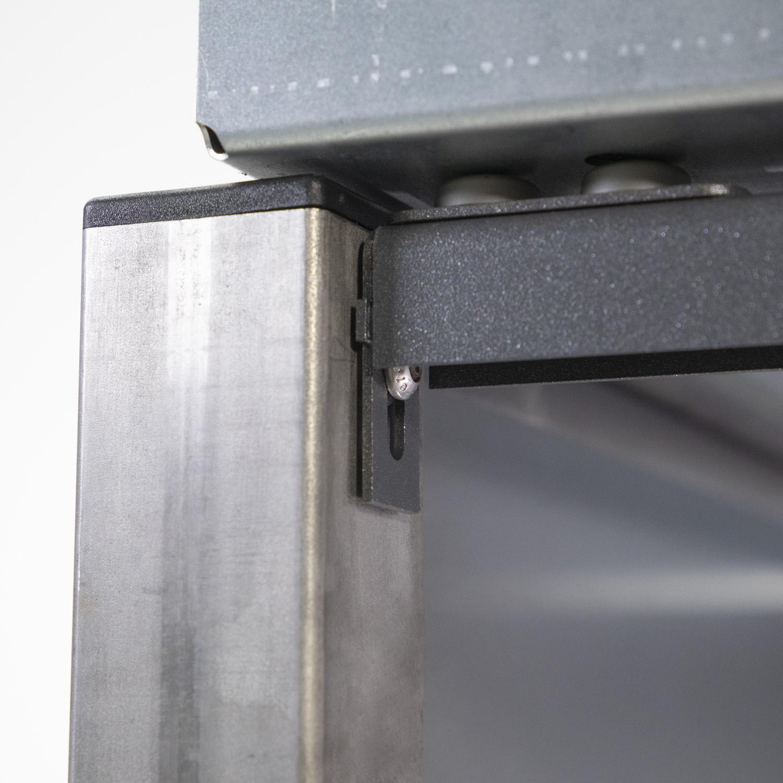 Mülltonnenbox für 3 Mülltonnen mit Pflanzwanne grau / Edelstahl Bild 3