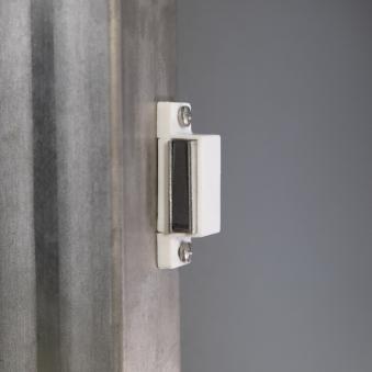 Mülltonnenbox für 4 Mülltonnen mit Klappdeckel grau DB703/RAL9006 Bild 7