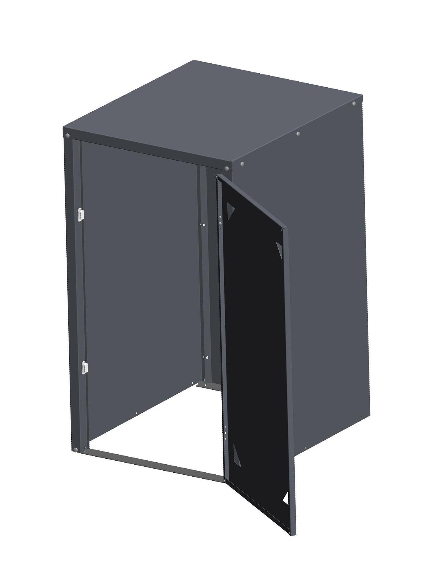 Universalbox / Mülltonnenbox Metall anthrazit 71x82x120cm Bild 2