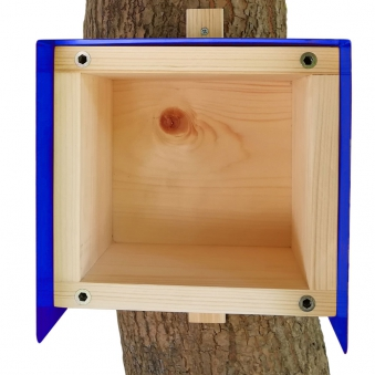 Nistkasten Cube Habau 20x20x20cm blau Bild 2