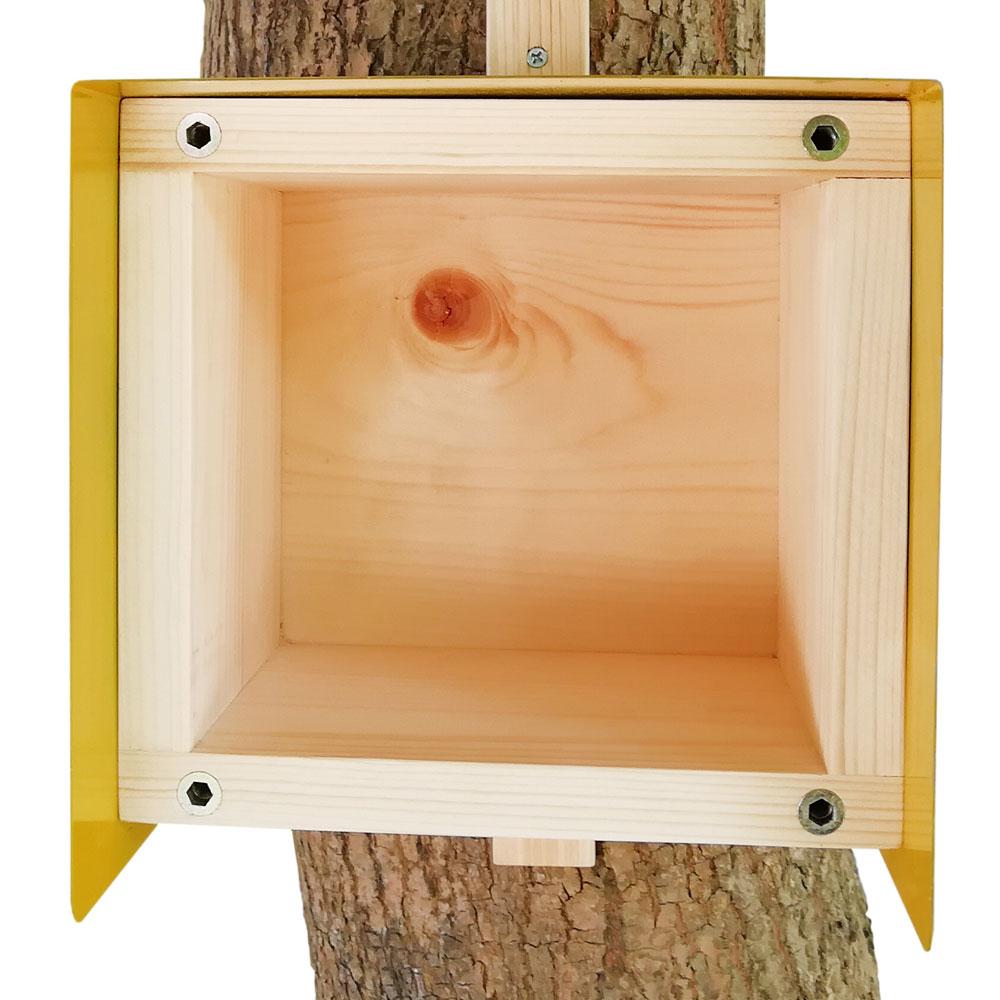 Nistkasten Cube Habau 20x20x20cm gelb Bild 2