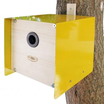 Nistkasten Cube Habau 20x20x20cm gelb Bild 1