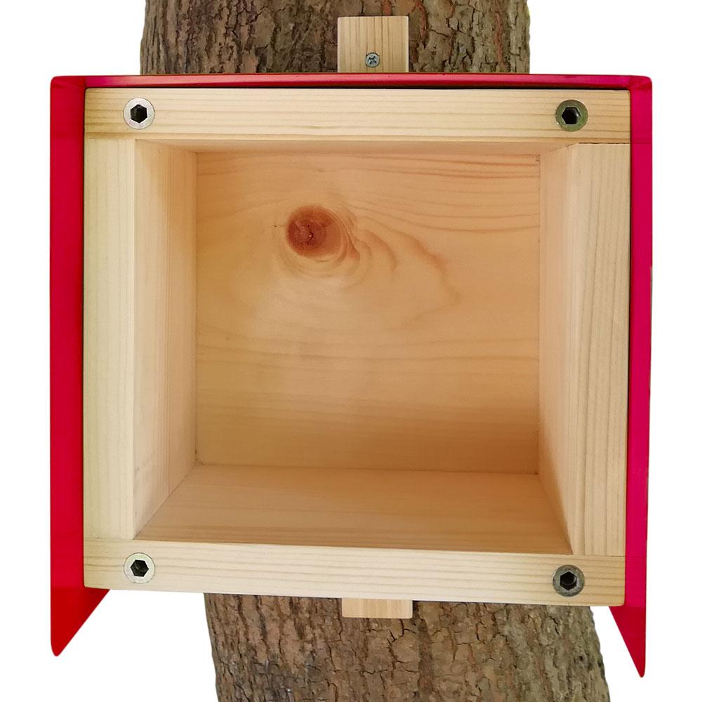 Nistkasten Cube Habau 20x20x20cm rot Bild 2