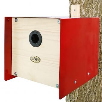 Nistkasten Cube Habau 20x20x20cm rot Bild 1