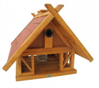 Vogelhaus / Futterhaus Habau Island mit Nistkasten und Ständer Bild 1