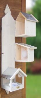 Vogelhaus Habau Triple 3in1 mit Nistkasten, Wasser-  und Futterstation Bild 2