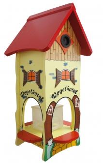 Vogelhaus / Vogelhotel Habau mit Ständer und Nistkasten Bild 1