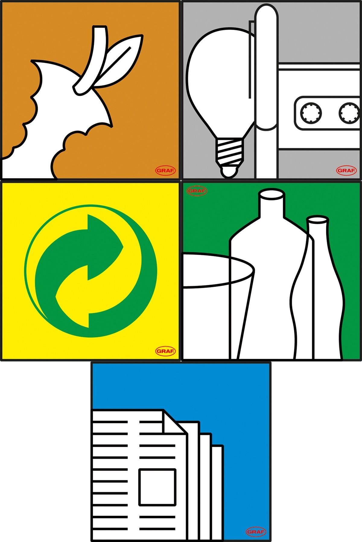 Aufklebersatz für Mehrzweck-Behälter Graf 778500 Bild 1