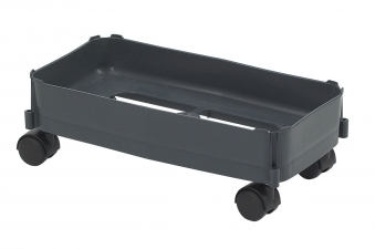 Fahrwagen für Mehrzweck-Behälter 60Liter grau harte Rollen Graf 778105 Bild 1