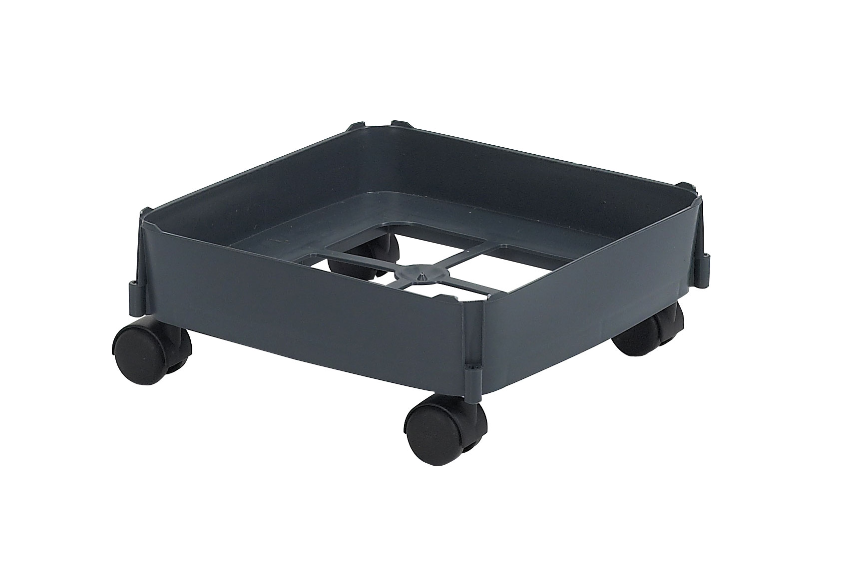 Fahrwagen für Mehrzweck-Behälter 90Liter grau harte Rollen Graf 778107 Bild 1