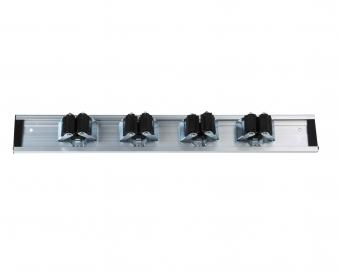 Geräteleiste Aluschiene Comfort floraworld mit 4 Haken 40cm Bild 1