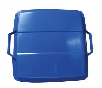 Deckel für Mehrzweck-Behälter eckig 90Liter blau Graf 778044