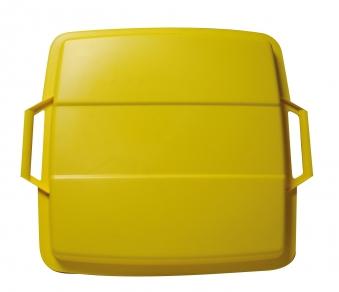 Deckel für Mehrzweck-Behälter eckig 90Liter gelb Graf 778045