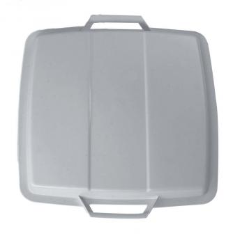 Deckel für Mehrzweck-Behälter eckig 90 Liter grau Graf 778049