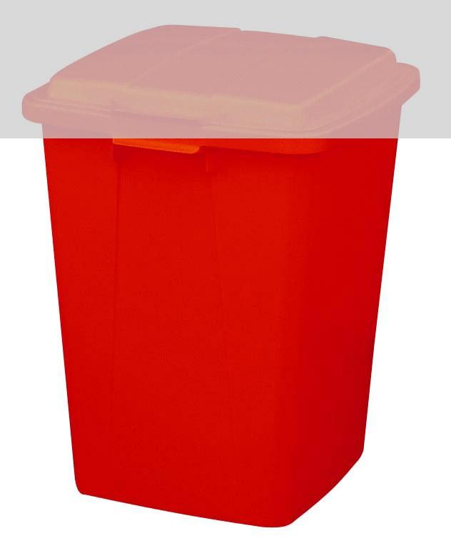 Mehrzweck-Behälter 90 Liter eckig rot Graf 778024 Bild 1