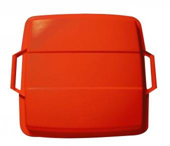 Deckel für Mehrzweck-Behälter eckig 90 Liter rot Graf 778047