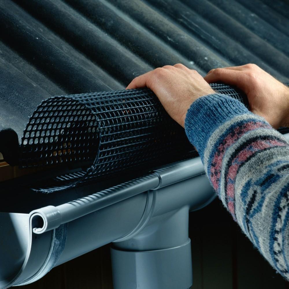 Schutzgitter für Dachrinnen Marley Poly-Net Laubstopp RG100-125  2m Bild 1