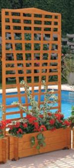 Blumenkasten mit Spalier Mirabell 100x180x46cm