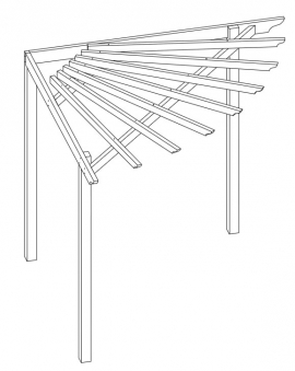 Eckpergola kesseldruckimprägniert 240x240x220cm Bild 1
