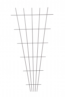 Gitterspalier / Rankhilfe Fächerform floraworld braun 75x150cm Bild 1