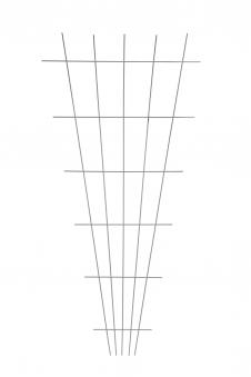 Gitterspalier / Rankhilfe Fächerform floraworld weiß 75x150cm Bild 1