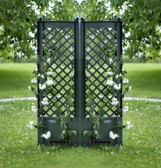 KHW Spalier / Rankgitter Kunststoff 43x140cm 2-er Set grün Bild 1
