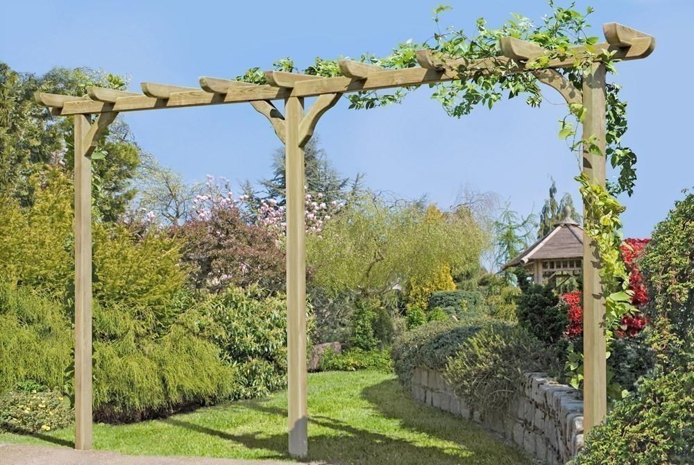 Pergola Garten Kiefer kdi 9x9x450cm Bild 1