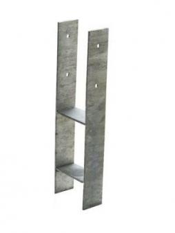 GAH Alberts H-Anker / Betonanker für Pfosten 7x7cm