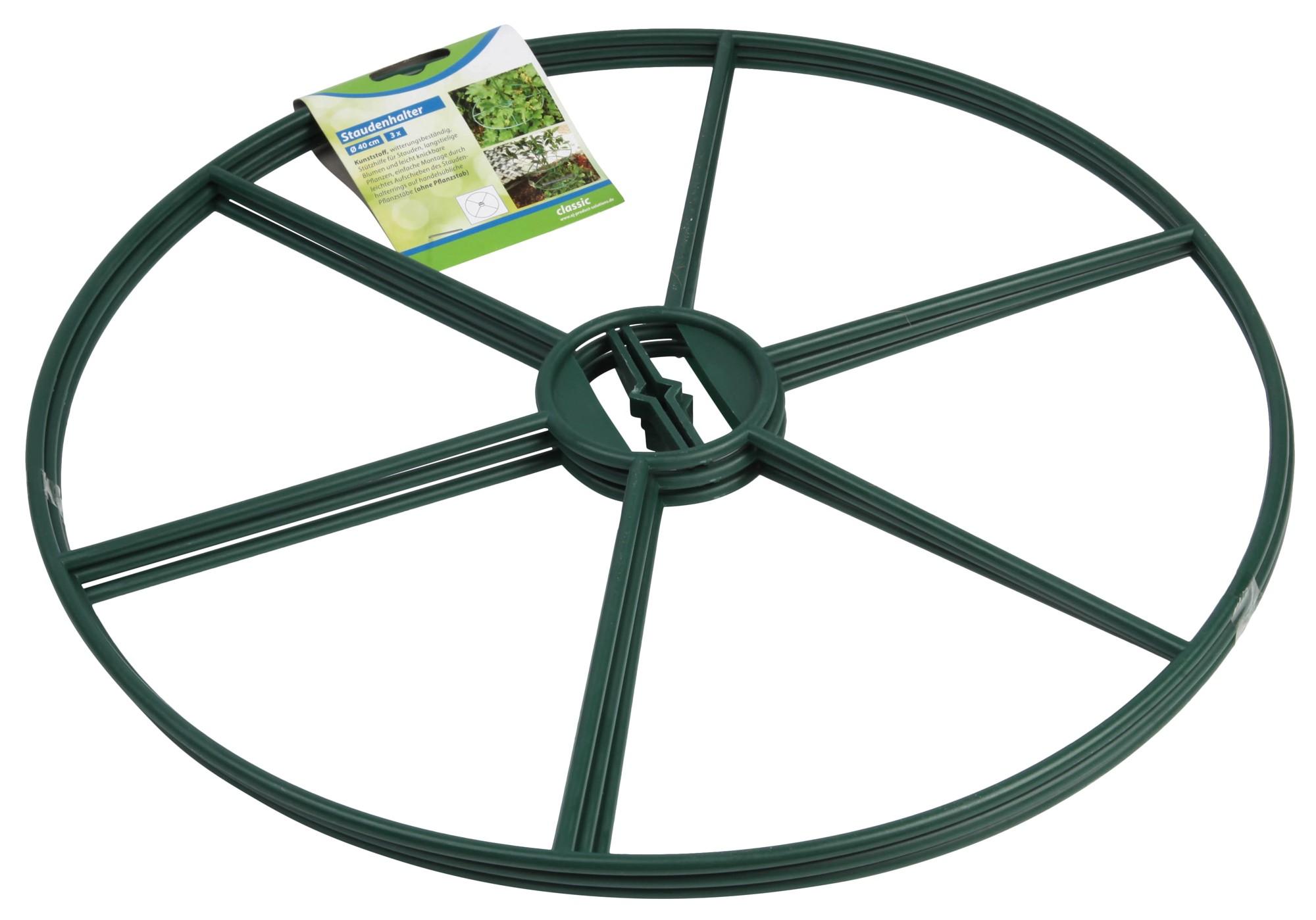 Staudenhalter / Rankhilfe classic floraworld Ø30cm grün Bild 1