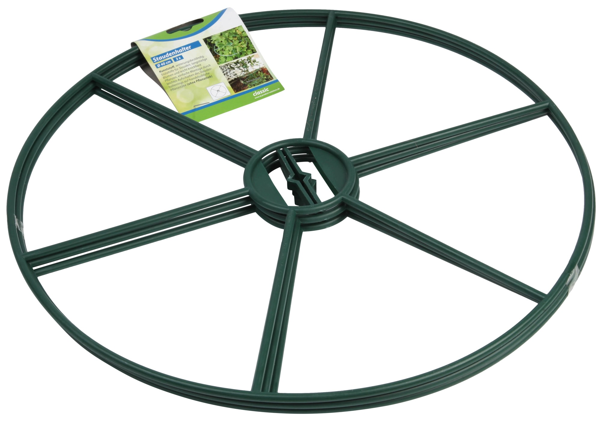 Staudenhalter / Rankhilfe classic floraworld Ø40cm grün 3 Stück Bild 1