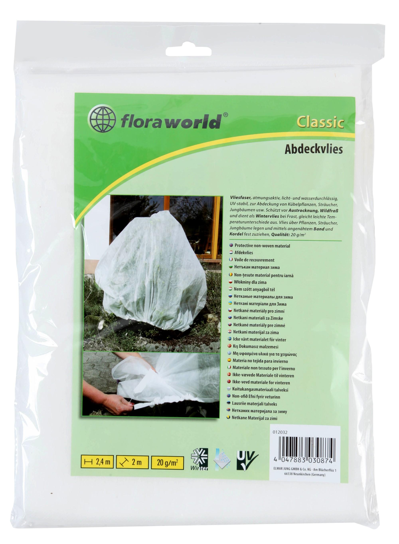 Abdeckvlies / Gartenvlies classic floraworld 2,4x2m weiß Bild 1